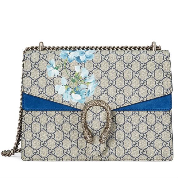 d1081f57e1d4 Gucci Bags | Dionysus Blooms Blue Shoulder Bag | Poshmark